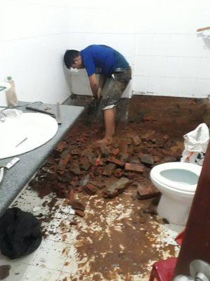 Thợ lát gạch nền ốp gạch tường tại quận 3