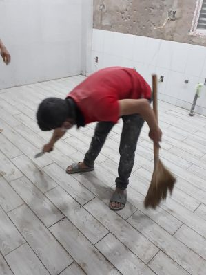 Thợ lát gạch nền ốp gạch tường tại quận 1