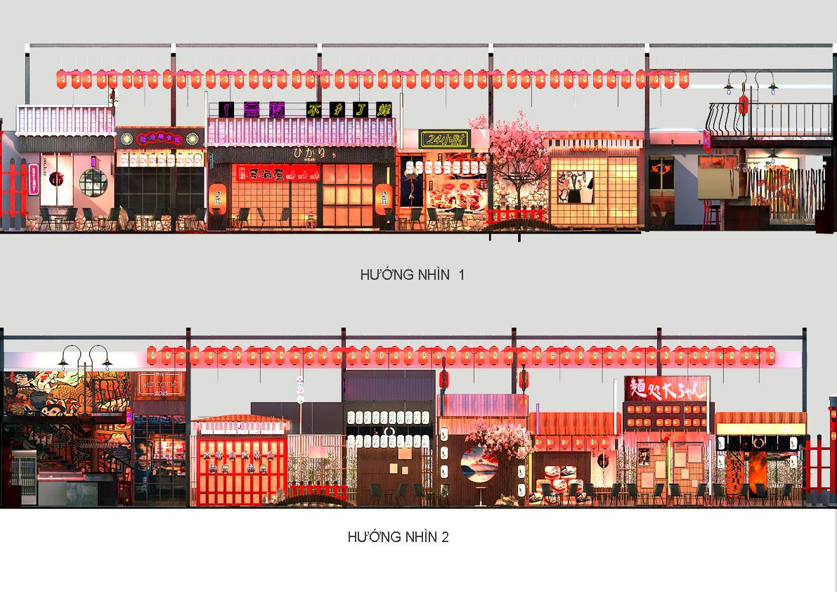 Bản 3D nhà hàng Nhật