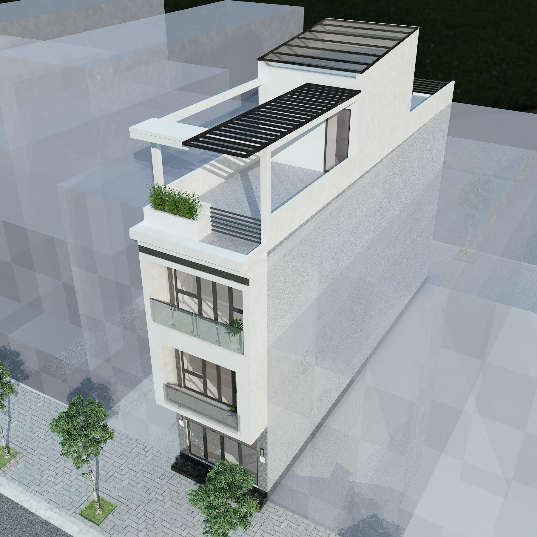 Mẫu nhà phố 3 tầng mặt tiền 4,5m
